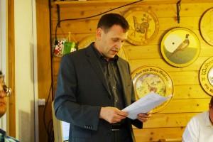 Präsi Kohler beim Bericht
