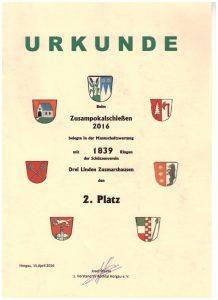 ZP 2016 Urkunde